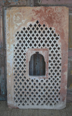 18th Century Sandstone Jali Arch with Mehrab Window, Nagaur <b>sold<b>